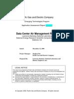 PGE DC Air Management Report