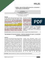 CIAVATTA, Maria. A Reforma do nsino Méido. Uma Leitura Crítica da Lei n.13415.2017