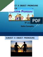 Subject Pronouns X Object Pronouns