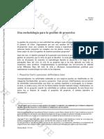 A1. Una Metodología Para La Gestión de Proyectos IESE