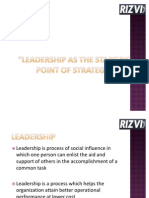 Leadership As The Starting Point Of Strategy.11