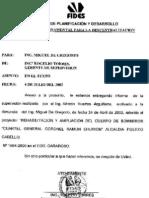 Informe Supervision del FIDES 04-07-02 sede Bomberos