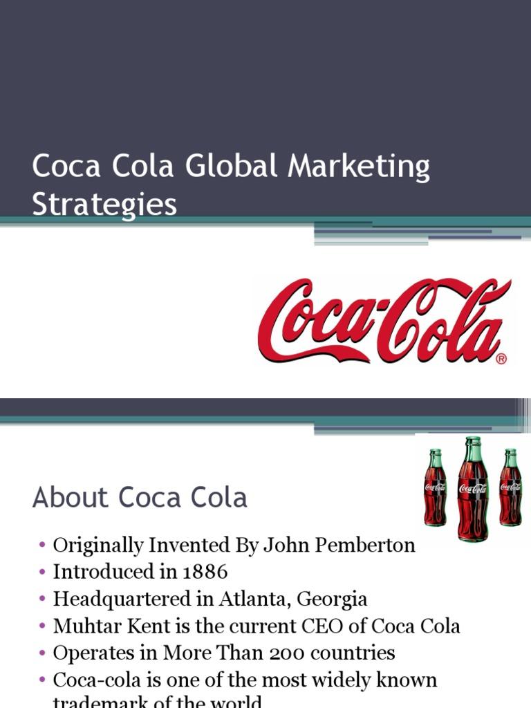 coca cola international strategy