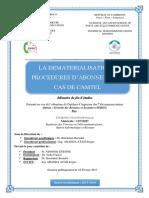 LA DEMATERIALISATION DES PROCEDURES D'ABONNEMENT