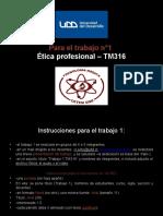 ppt Instrucciones para Trabajo 1 TM316