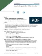 PT1. Configuration Des Paramètres Initiaux Du Routeur