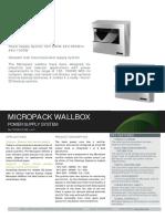 Datasheet Micropack Wallbox