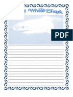 Great White Shark Note Booking