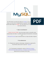 Pasar base de datos de Access a MySQL