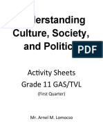 Understanding Culture, Society, And Politics as v1.0