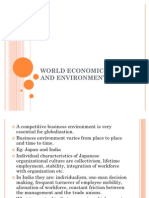 WORLD ECONOMIC GROWTH AND ENVIRONMENT