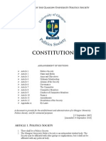 Politics Society Constitution 2010