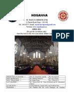 April 2021 Hosanna 29 mar 21