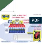 WD-40 Bonus Pack Display 1103