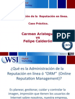 Administración de la Reputación en línea, ORM (Online Reputation Management)