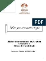 Cours - L.T - Pr. Yassine BOUROUAHA