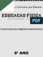 Educação Física - anos finais - organizador curricular por bimestre