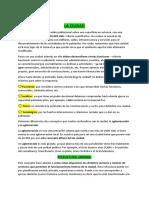 LA CIUDAD, FUNCIONES Y JERARQUIAS