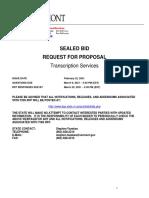 RFP Transcription Services TAX