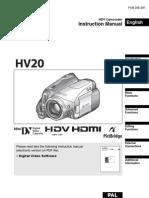 Canon HV20 Instruction Manual PAL En