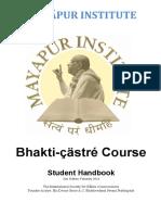 Bhakti Shastri Student Handbook
