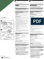 Sony AC-LS5K Manual de Instruções