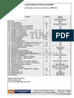 Folha de Dados BPS 33I