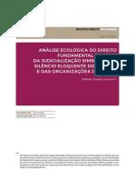 Análise Ecológica do Direito Fundamental à saúde