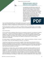 Reflexionando Sobre La Idiosincracia Argentina