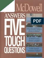 JoshMcDowellAnswersFiveToughQuestions