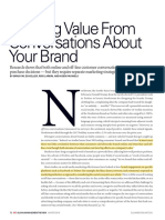 Deriving value of conversations about your brand article