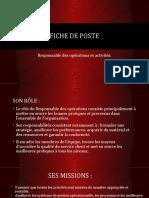 Fiche de Poste Du Responsable Des Opérations