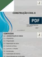01_ORÇAMENTO_Aula Administração de Obras_UFMA Josélia 08.11.2017
