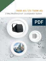 6039 Zs 760b Two Way Weatherproof Loudspeaker System Brochure