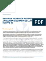 Riesgos de protección asociados a violencia en el marco de la pandemia de COVID-19