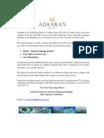 Advertisment 27-12-2019 ADAARAN Butler Asst HK FOE