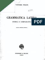 146822582 Pisani Grammatica Latina Storica e Comparativa