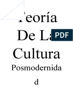 teoria de la cultura