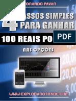 E-Book - 4 Passos para ganhar R$ 100 por dia com Opções 2.0