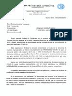 Denuncia Subsecretaria de Transporte de La Provincia de Bs As