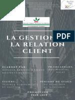 Rapport de Stage. Recherche Sur La Gestion de La Relation Client