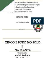 Zinco e Boro