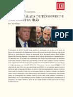 Escalada de tensiones EE.UU. vs Irán
