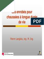 Enrobes Chaussees Longue Duree de Vie Planglois Mode de Compatibilite