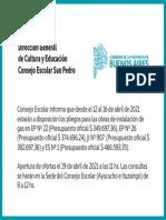 Consejo Escolar de San Pedro  - Instalación de gas - Abril 2021
