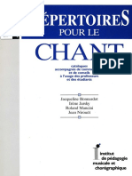 Répertoires Pour Le Chant