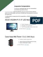 Presupuesto Computadora Comenrcial