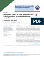 Vallejo (2017) La valoración jurídica del riesgo como criterio para la determinación de la responsabilidad penal del médico