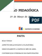 Reunião Pedagógica 31 Mar 2021 - Vrs. 2.0