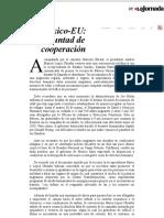 La Jornada_ México-EU_ voluntad de cooperación